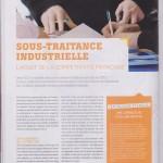 La sous-traitance industrielle, l'atout de la compétitivité française