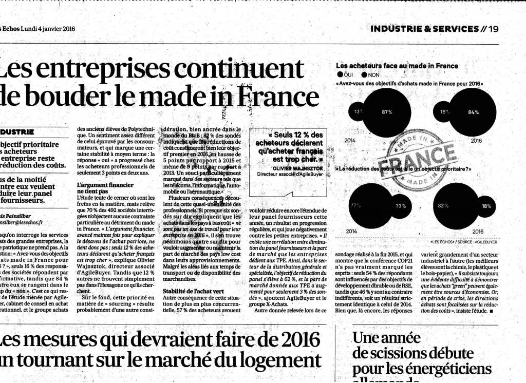 Les entreprises continuent de bouder le made in France
