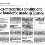 Les entreprise continuent de bouder le made in France