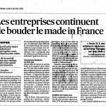 Les entreprise continuent de bouder le made in France
