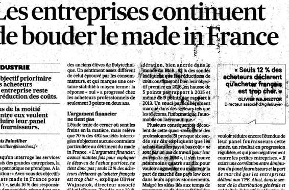 Les entreprises et le made in France en 2016