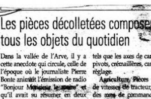 Le decolletage et application du quotidien