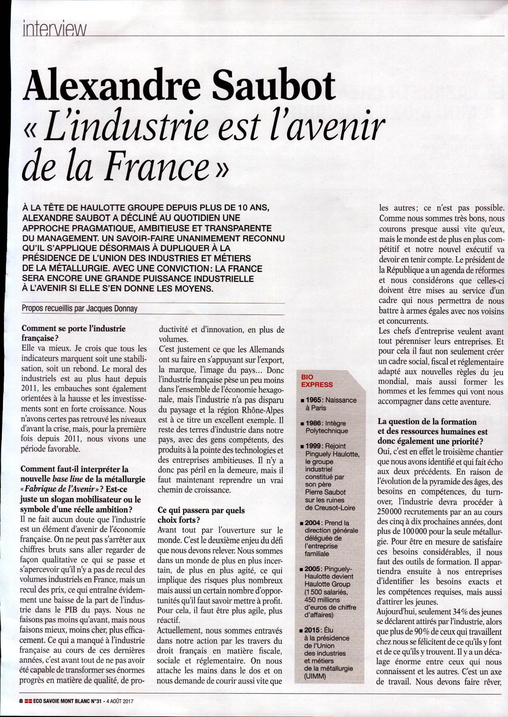 Avenir de l'industrie en France