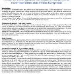 Les chiffres 2016 des activités de la sous-traitance en Union Européenne