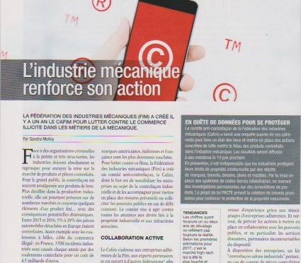 industrie mécanique renforce son action
